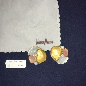 Alexis Bittar Brush Glass Swarovski Clip Earrings